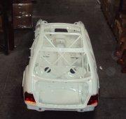 Rolkooi: BMW E46 4 deurs GTR met Airjacks en zij uitlaten